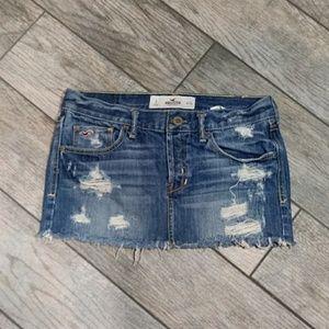 Hollister | Distressed Denim Mini Skirt
